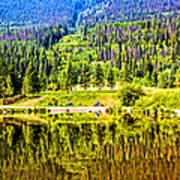 Reflections On A Summer Day - Vail - Colorado Art Print