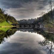 Reflections On Adda River Art Print