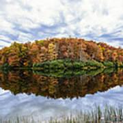 Reflections On Boley Lake Wv Art Print by Dick Wood