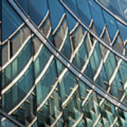 Reflections On Building Windows Art Print