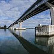 Reflections On Samoa Bridge Art Print