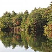 Reflections Two At Pearce Lake Breakheart Art Print