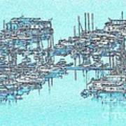 Reflective Blue Art Print