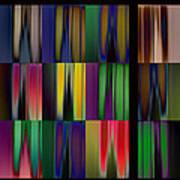 Reflective Blurs Art Print
