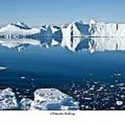 Reflective Icebergs Art Print by David Barringhaus