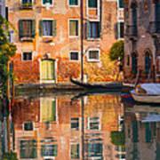Reflective Moment In Venice Art Print