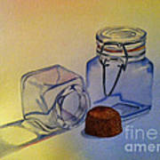 Reflective Still Life Jars Art Print by Brenda Brown