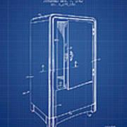 Refrigerator Patent From 1942 - Blueprint Art Print