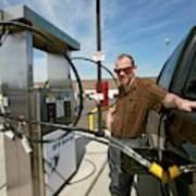 Refuelling A Natural Gas Vehicle Art Print