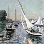 Regatta At Argenteuil Art Print