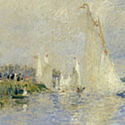 Regatta At Argenteuil Art Print