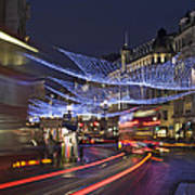 Regent Street Lights Art Print