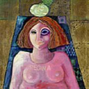 Regina, 2004 Acrylic & Metal Leaf On Canvas Art Print