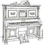 Regina Player Piano Art Print