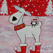 Reindeer Booties Art Print