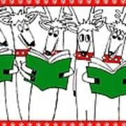 Reindeer Choir Art Print