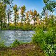 Relax By The Methow Rivers Edge Art Print