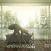 Relaxing Octopus...  Art Print