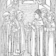 Religious Argument, 1477 Art Print