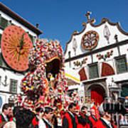 Religious Festival In Azores Art Print
