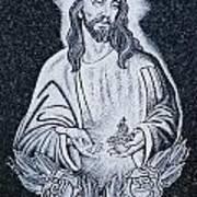 Religious Icons In Spanish Cemetery Art Print