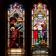 Religious Stained Windows Art Print