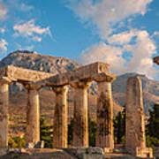 Remains Of Apollo Temple Art Print