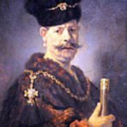 Rembrandt's A Polish Nobleman Art Print