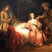 Rembrandt's Joseph Accused By Potiphar's Wife Art Print