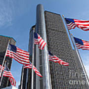 Rencen And Flags Art Print