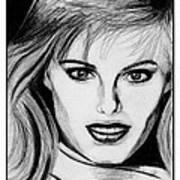 Renee Simonsen In 1984 Art Print