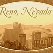 Reno Nevada  Art Print