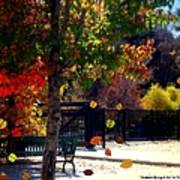 Reno Riverwalk In The Fall Art Print