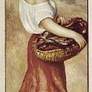 Renoir, Pierre-auguste 1841-1919. Girl Art Print by Everett