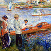 Renoir's Oarsmen At Chatou Art Print