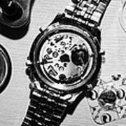 Replacing The Battery In A Metal Band Wrist Watch Print by Joe Fox