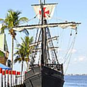 Replica Of The Christopher Columbus Ship Pinta Art Print