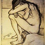 Replica Of Vincent's Drawing - Sorrow Art Print
