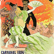 Reproduction Of A Poster Advertising The 1896 Carnival At The Theatre De L'opera Art Print