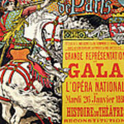 Reproduction Of A Poster Advertising The Fetes De Paris Art Print