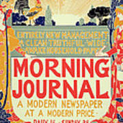 Reproduction Of A Poster Advertising The Morning Journal Art Print