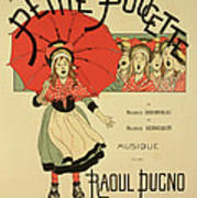 Reproduction Of A Poster Advertising The Operetta La Petite Poucette Art Print