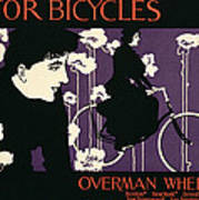 Reproduction Of A Poster Advertising Victor Bicycles Art Print