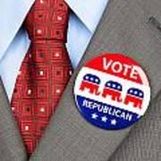 Republican Vote Badge Art Print