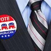 Republican Vote Pin Art Print
