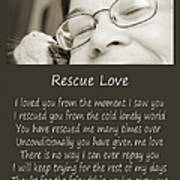 Rescue Love Adoption Art Print