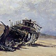 Rest Of A Shipwreck Art Print