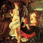 Rest On The Flight Into Egypt Art Print by Caravaggio