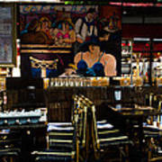 Restaurant In Montmartre Art Print