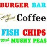Restaurant Signs Art Print